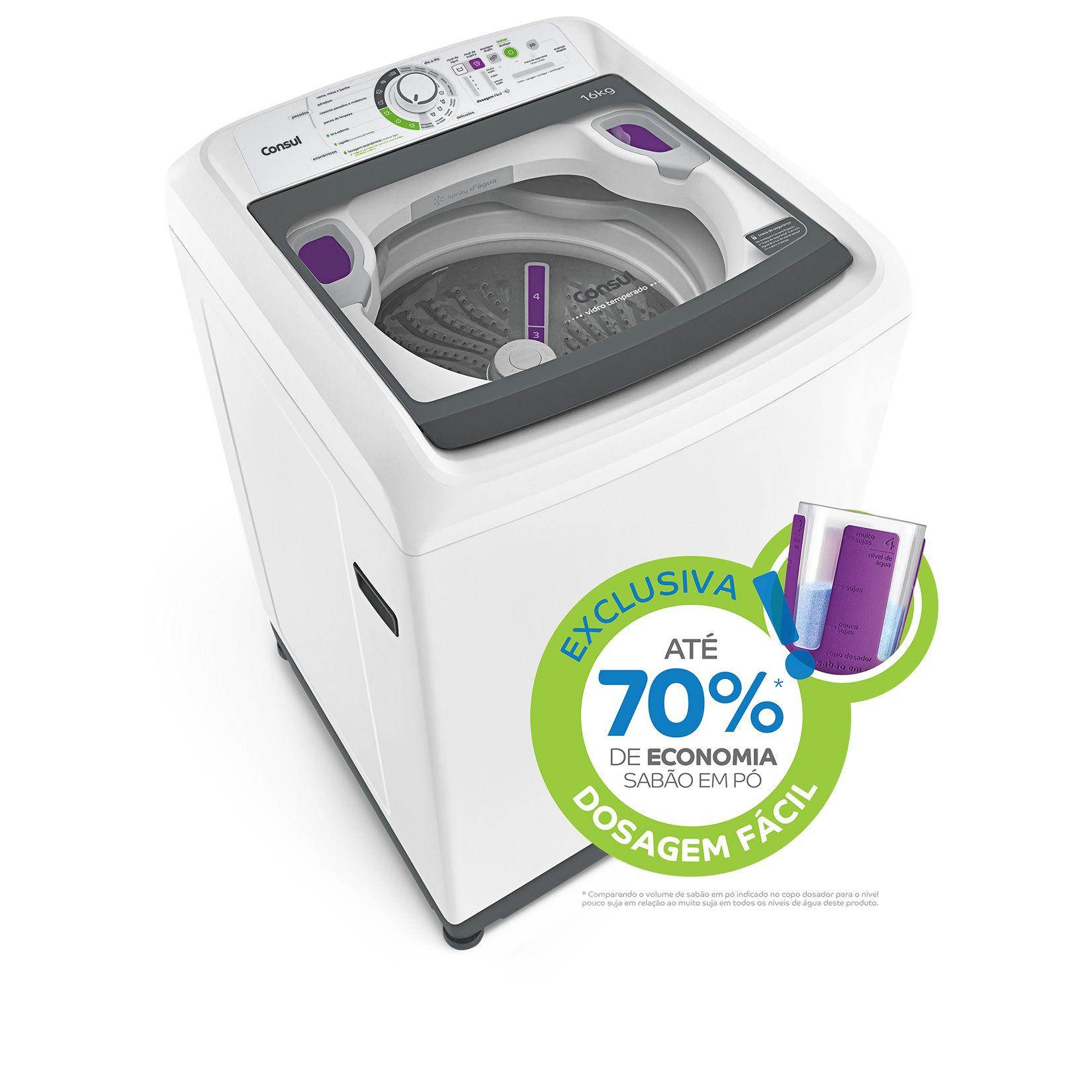 lavadora consul 16 kg com dosagem f cil branca. Black Bedroom Furniture Sets. Home Design Ideas